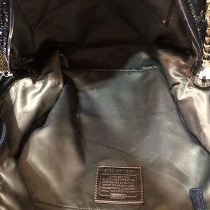 Coach Bags - Coach Poppy Spotlight Sequin Backpack Blue LE RARE
